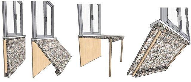 Встроенный стол своими руками: технология изготовления, инст.